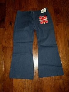 Seafarer Navy utility denim trousers jeans bell bottom seagoing uniform Men's