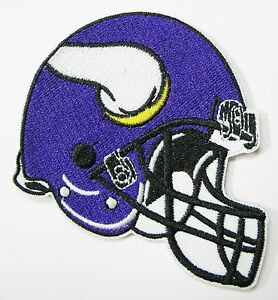 LOT NFL (1) MINNESOTA VIKINGS EMBROIDERED PURPLE HELMET PATCH PATCHES ITEM # 25