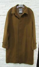 NWT Ermenegildo Zegna $3,475 Chestnut Cashmere Wool Leather Trim Topcoat 54 XL