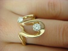 14K YELLOW GOLD AND 0.30 CT DIAMONDS LADIES FREE STYLE RING, 4 GRAMS, SIZE 7.75