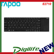 Rapoo E2710 Wireless Multi-media Touchpad Keyboard Black