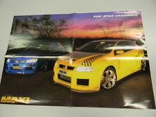 Q61 Poster FIAT STILO CADAMURO - retro Sara -Maxi Tuning