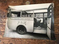 photographie ancienne bus ou car numéro 5 PLM