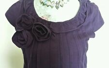 Next size 10  purple flower corsage tunic dress on trend