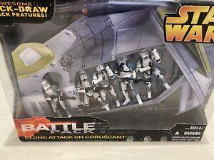 Republic Gunship Star Wars Revenge of the Sith Green & Battlepack Figures