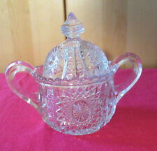 """Antique Brilliant Cut Sugar Bowl with Lid - Excellent Condition 5"""" tall with lid"""