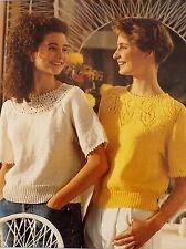 """Tejer patrón Vintage Suéter De Las Señoras De Punto & Ganchillo yugo 30-40"""" dk L6044"""