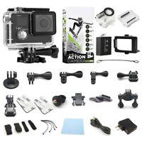 4K Action Camera Dual Screen Ultra HD Camcorder + Accessory Bundle