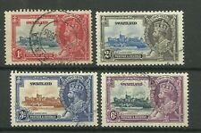 More details for swaziland 1935 set of 3 silver jubilee issues, sg 21/24, fine used. {box 5-19}
