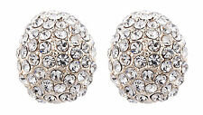 Clip On Earrings - gold plated cluster with rhinestone crystals - Harley