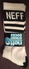 NEFF Crew Street Socks Men's size 6.5-12 white NEW WORLD skate BMX snowboard