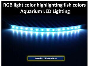 Color Enhancing Aquarium Lighting RGB highlighting fish colors 30cm / 60cm /90cm