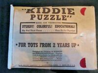 "PUZZLE,""KIDDIE PUZZLE""FOR CHILDREN OF NURSERY & KINDERGARTEN, AGE 16 PIECES USED"
