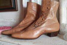 vêtement ancien - Paire de bottines anciennes en cuir