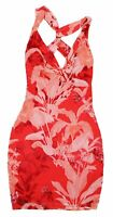 Guess Tuscan Floral Print Anaya Collection Mini Length V-Neck Women's Dress NWT