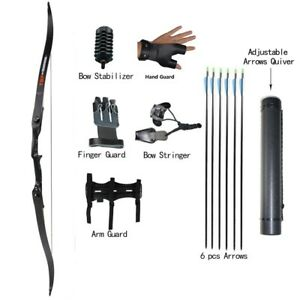 30-50lbs Archery Hunting Right Hand Takedown Recurve Bow and Arrows Shooting Set