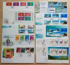 China Hong Kong 1998 Stamp M/S & S/S complete set 10 FDC 中国香港一九九八年发行邮票及小型张共十个首日封