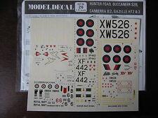 1/72  MODEL DECAL N°26 HUNTER FG A9 / BUCCANEER S3B / CANBERRA B2 / GAZELLE HT2