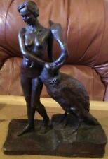 Bronze Composite Figurine Signed Ronald Moll. 331/750 Leda And The Swan