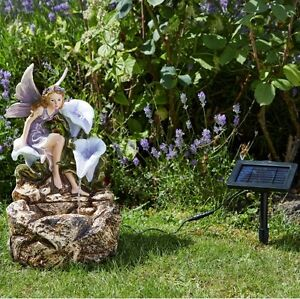 Smart Solar Liliana Fairy Cascade Garden Water Feature Fountain FAST DELIVERY
