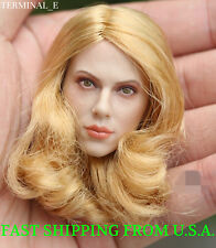 1/6 Scarlett Johansson Black Widow Head Blonde Hair For Hot Toys Phicen Figure