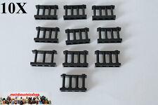 3 x Lego System Zaun schwarz 1x4x2 mit Ecken rund Zäune Gatter Geländer Absperru