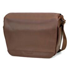 Cecilia Lambert 12L Camera Messenger Bag in Chestnut Leather