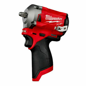 Milwaukee 2554-20 M12 FUEL Li-Ion 3/8 in. Stubby Impact Wrench (Tool Only) New.