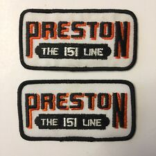 Lot of 2 Preston The 151 Line Patch
