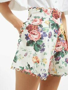 NEW Zimmermann Allia Floral Shorts, Womens Size 1 US 6 M