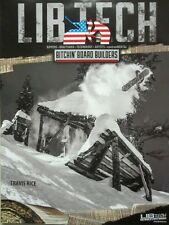 LIB TECH Travis Rice Snowboard 2014 2 lati Magne-Traction PROMO POSTER impeccabile