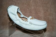 Prada Leather Ballet Driving Casual Shoes White Women's 6.5 M  37