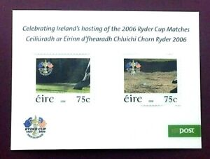IRELAND 2006 - RYDER CUP SET (IN PLASTICATED SHEET) - MINT NEVER HINGED