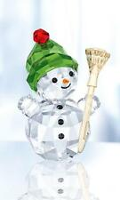 SWAROVSKI CRYSTAL SNOWMAN WITH BROOM STICK 5393460 MINT BOXED RETIRED RARE