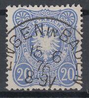 KNZ 38566) ENGEN IN BADEN Agenturstempel 1876 zentrisch auf Mi.-Nr. 34