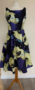 Stunning New Special Occasion Floral Dress 50's Inspired Fit & Flare Monsoon 8