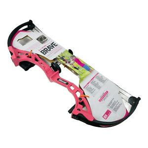 Youth Compound Bow - Bear Archery Brave - Pink - with 2 Arrows and Quiver RH NEW