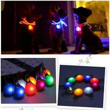 New Flashing Glow Bright Cat Tag Pet Dog Night Dark Safety LED Light Neck Collar
