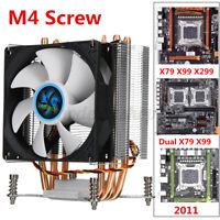CPU Kühler PC Computer Prozessor Kühler 4 Kupferrohre für  X79 X99 X299  * *