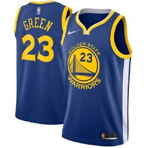Nike NBA Youth Golden State Warriors Draymond Green Road Icon Swingman Jersey