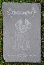Tiergrabstein Grabstein Trauerstein Tiergrabstein Gedenkstein Naturstein Hund
