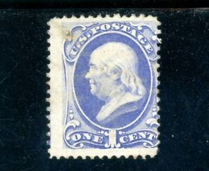 USAstamps Unused F US 1870 Franklin Bank Note Scott 145 NG No Grill