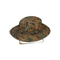 Woodland Digital Camo Boonie Hat - TRU-SPEC 3261 Poly Cotton Ripstop - Wide Brim