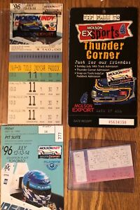1996 Toronto Molson Indy Unused Ticket LOT passes and concert LOOK - F1 Racing