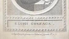 ARTE_ANTICA STAMPA POPOLARE DEVOZIONALE_NAPOLI_GERVASI_SAN LUIGI GONZAGA_'700