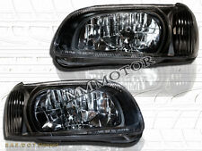 For 00-01 Nissan Maxima GXE SE GLE Crystal Headlights Black