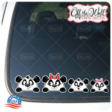 PANDA BEAR Stick Figure Car/Truck/Vehicle Waterproof UV Laminate Sticker