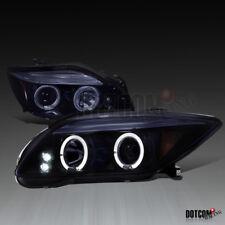 Glossy Black 2005-2010 Scion tC Halo LED Projector Headlights Smoke Head Lamps