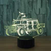 7 Color Night Light LED Car Model 3D Illusion Visual Kid's Gifts USB Desk Lamp