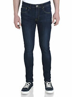 Soul Star Men's Skinny Slim Fit Stretch Jeans Tapered Tight Denim Pants Trousers